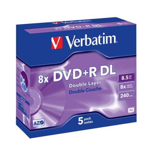 VERBATIM DVD+R DL 8 5GB 8x jewel box 5ks