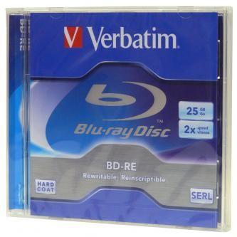 VERBATIM BD-R (5-pack)Blu-Ray/Jewel/2x/25GB