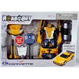 MAC TOYS Robot Corvette C6R 1:32 žlutý
