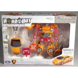 MAC TOYS Robot Lamborghini Murcielago 1:32 růžový oranžový