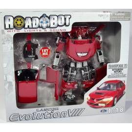 MAC TOYS Robot Mitsubishi Lancer EVO VIII 1:18 červený