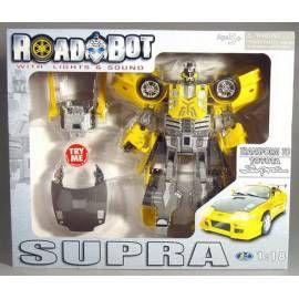 MAC TOYS Robot Toyota Supra 1:18 žlutý