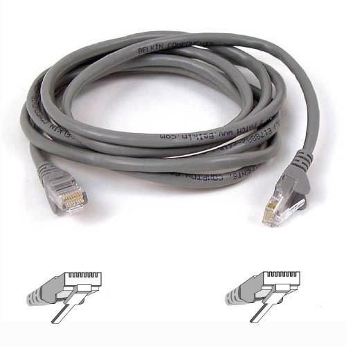 BELKIN PATCH UTP CAT5e 15m šedý bulk Snagless