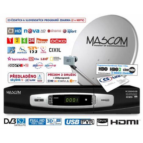 MASCOM MC2000HDUSB/80MBL+SKYLINK