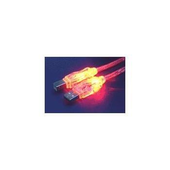 OEM USB kabel 1.8m, , červený - svítící, propojovací, USB, 1,8m, USB A(M), ->USB B(M) cena od 0,00 €