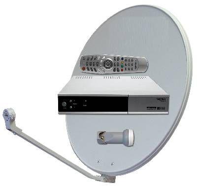 Optibox satelitní komplet, HDTV, Skylink, parabola 80, 1TV