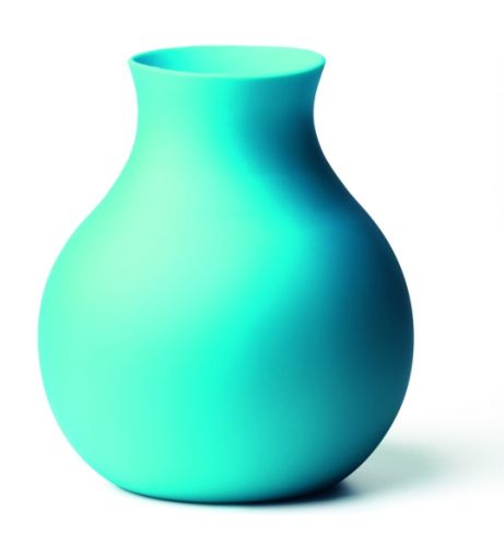 Menu Gumová váza - tyrkysová