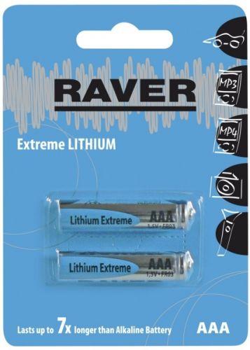 GP RAVER AAA Extreme lithiová - 2 ks
