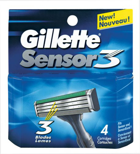 Gillette Sensor3 4 ks cena od 0,00 €