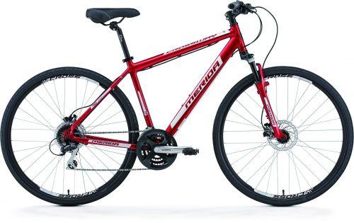 MERIDA Crossway 40-D dark červená (metallic bílý) 44cm
