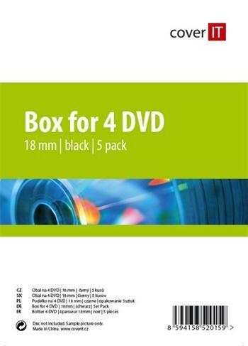 Cover IT box na 4 DVD - balení po 5ks