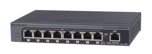 Netgear 8xGigabit VPN Firewall Switch,5 VPN tunelů