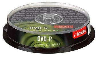 Disk DVD-R Imation 4,7GB 16x, 10-cake