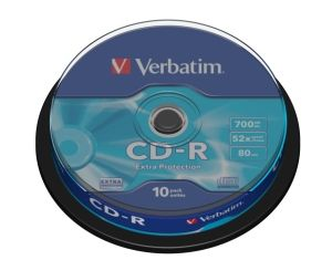 Disk CD-R VERBATIM DL 700MB/80min, 52x, Extra Protection, 10-cake
