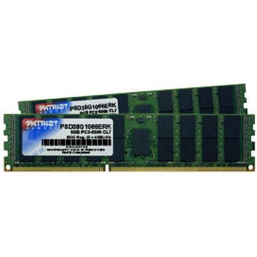 Patriot RAM DDR3 8GB (2x4GB) ECC/REG PC3-8500 1066MHz CL7, 4 Rank, Double-sided