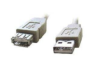 GEMBIRD Kabel USB A-A 1,8m 2.0 prodluž,HQ černý,zlac.kont.