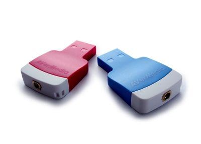 AVerMedia AVerTV 3D Volar Mini, modrý