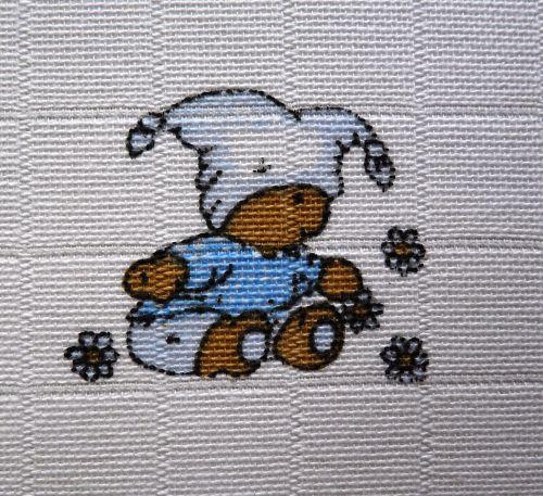 Libštátské Pleny 70x70 cm - potisk Medvídek modrý - 5ks