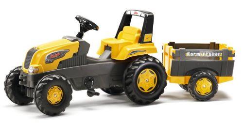 Rolly Toys Šlapací traktor Rolly Junior s Farm vlečkou - žlutý cena od 0,00 €