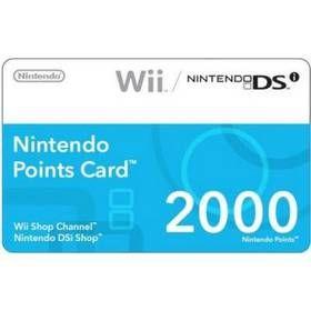 Příslušenství Nintendo Points Card - 2000 Points