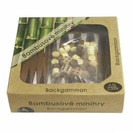 Hra ALBI Mini bambus - Backgammon