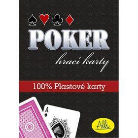 Hra ALBI Poker plastové karty modré