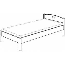 PAIDI postel FLEXIMO 100x190 cm