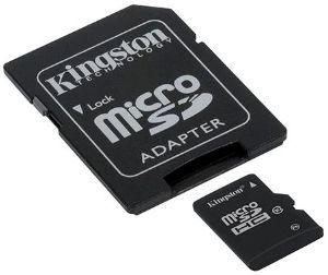 Kingston micro SDHC karta 32GB Class 10 + adaptér