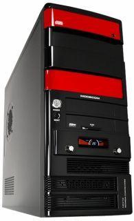 MODECOM PC skrinka NEXT 2 LCD Midi Tower ATX, zdroj PREMIUM 350W čierno červená