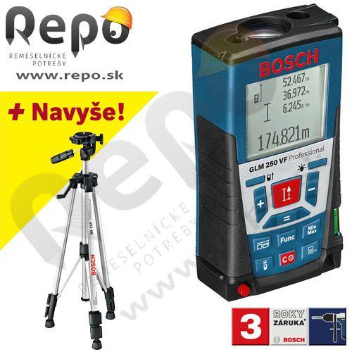 Bosch Laserový merač vzdialeností GLM 250 VF +BS 150 061599402J cena od 0,00 €