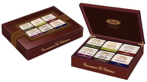 Premier´s Luxusní dřevěný dárkový box indických čajů 6 x 15 ks