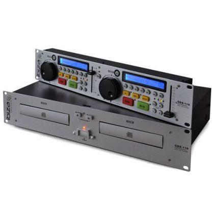 Ibiza CDX-110 dvojitý CD přehrávač do stojanu