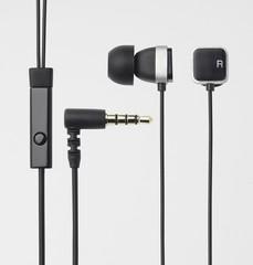 ELECOM Headset iPhone, Square-shape, černá