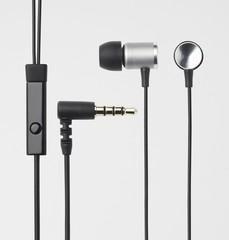 ELECOM Headset iPhone Balanced armature, stříbrná