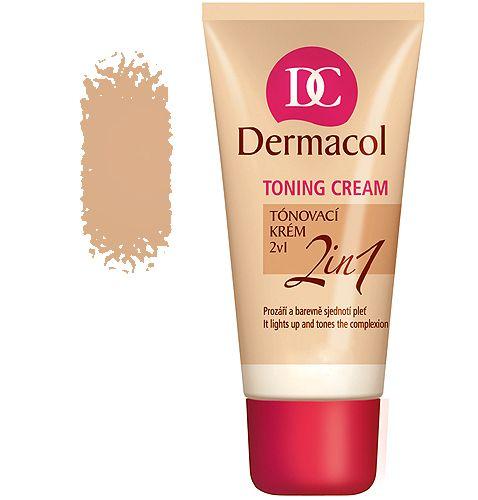Dermacol Toning Cream 2in1-bronze Make-up 30ml pre ženy Všechny typy pleti
