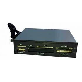 EUROCASE Card reader 33in1 black s USB, včetně SDHC