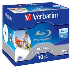 Disk BD-R VERBATIM (10-pack)Blu-Ray/Jewel/DL/6x/50GB/ PRINTABLE SURFACE