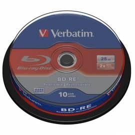 Disk BD-R SL VERBATIM (10-pack)Blu-Ray/spindle/2x/25GB