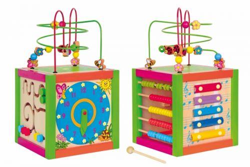 Woody Didaktická kocka farebná