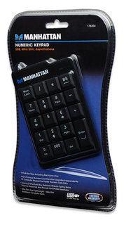 Manhattan klávesnica,numerická, USB, čierna 176354