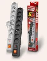 Acar - S8 prepäťová ochrana, 1,5M, 8 zásuviek, sivá SKACARS8G cena od 10,21 €