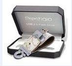 8 GB USB kľúč Prestigio White Map Leather, biela koža, zamat.karbička, AVG Internet Security 9.0 cena od 0,00 €