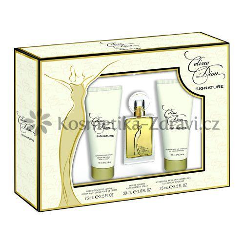Celine Dion Signature - toaletní voda s rozprašovačem 30 ml + tělové mléko 75 ml + sprchový gel 75 ml cena od 0,00 €