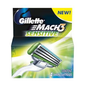 Náhradné hlavice Gillette MACH3 sensitive 4ks