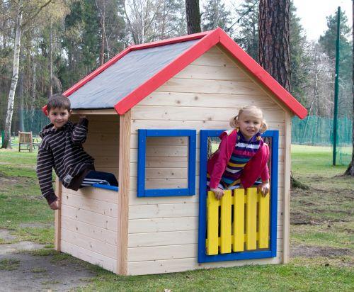 Woody Záhradný domček s farebným lemovaním