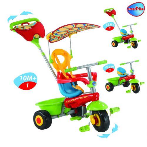 Smart Trike Tříkolka Fresh col.1800 zeleno-červená