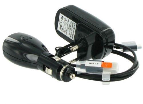 4World Nabíjačka pre iPhone / iPod, pre sieťové zásuvky, USB, a do automobilu Čierna cena od 0,00 €