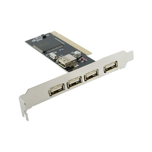 4World 5-portový řadič (4 +1) USB 2.0 na karte PCI cena od 0,00 €