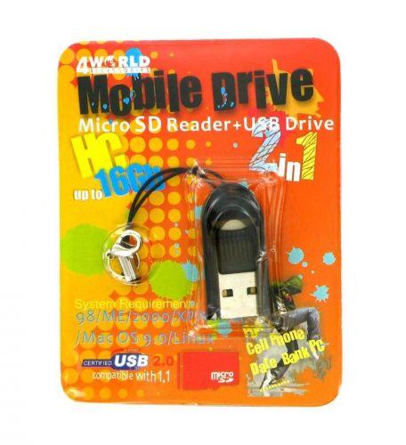 4World Micro microSD/T-FLASH USB 2.0 PenDrive cena od 0,00 €