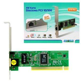 4World Síťová karta PCI 10/100BaseTX (RJ45) chipset Realtek - bulk cena od 0,00 €